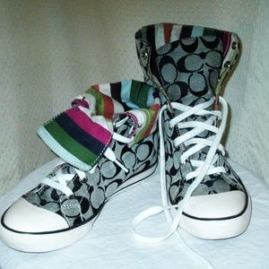 "COACH ""Bonney"" HI-TOP Sneakers 5.5 Logo ADORABLE"